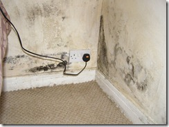 Mould caused by condensation in a house in North leeds