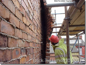 wall tie corrosion and wall tie failure in Leeds yorkshire by Brick Tie