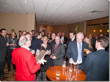 Leeds estate agents and guests.
