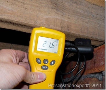 Wet rot low moisture content