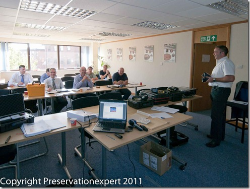 Propert Care Association deligates being trained on Thermography for buildings