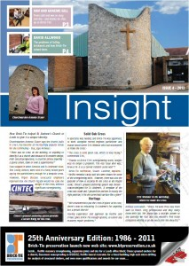Front page of Brick Tie preservation newsletter insight 4