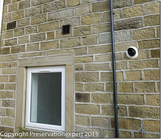 Strap cement pointing on a house in West Yorkshire-1080486