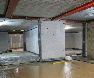 basement waterproofing new build project by Leeds based Deepshield