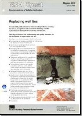 BRE 401 installing wall ties