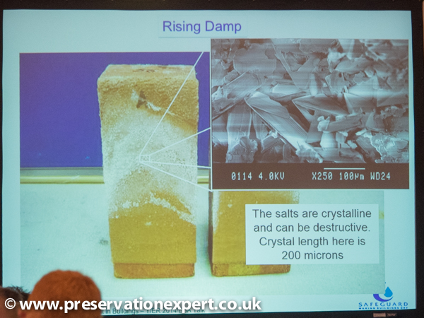 reducing salt damage of masonry due to rising damp