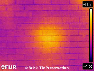 Using building thermography to find missing cavity wall insulation in Yorkshire housing.