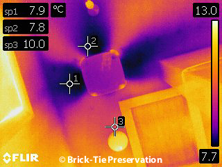 Baffled PIV unit protecting the smoke alarm thermography