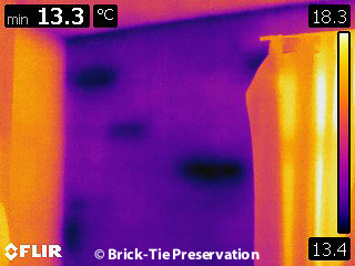 Using thermography with mosture meters to diagnose damp