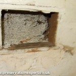 blocked vents imply damp caused by cavity wall insulation
