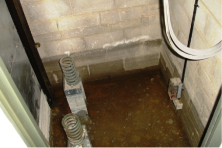 Waterproofing lift pits