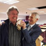 Bryan Hindle and Mike Bromley sample a Saveloy Dip